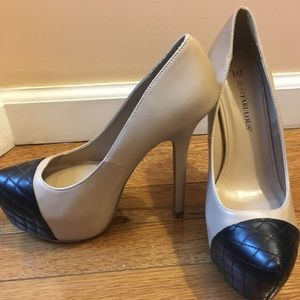 Just Fab Nude and Black Pump
